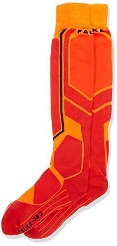 FALKE Herren Snowboard Socken SB2, Wollmischung, 1 Paar, Orange (Flash Orange 8034), Größe: 46-48