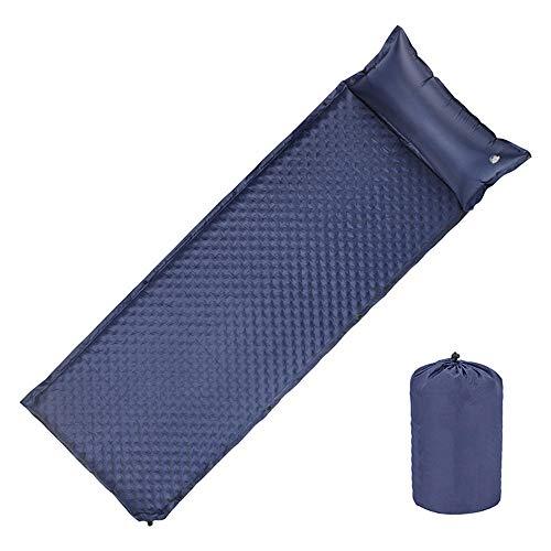 Tapis de Camping Couchage Ultra Léger Étanche à L'Humidité Gonflable Coussin d'air Portable Outdoor Compact Randonnée Sac à Dos-Bleu Marin