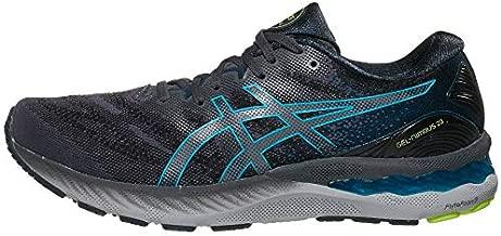 ASICS Men's Gel-Nimbus 23 Running Shoes, 12, Carrier Grey/Digital Aqua