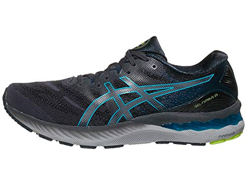 ASICS Zapatillas de correr Gel-Nimbus 23 para hombre, gris (Carrier Grey/Digital Aqua), 46