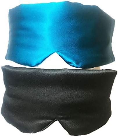 Artyunt Sleep Mask Pack of 2 Silk Sleep Mask Lightweight Comfortable Super Soft Eye Masks for product image