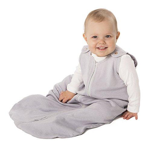 baby deedee Sleep Nest Lite, Sleeping Bag Sack - Gray Stripes, S (0-6 Months)