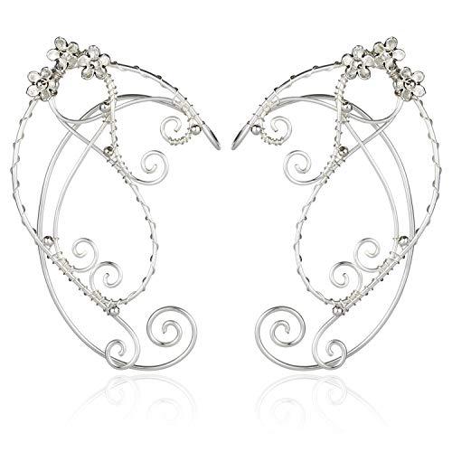 Elf Ohr Manschetten, Aifeer 1 Paar Perlen Filigrane Fee Elfen Cosplay Fantasie Kostüm Handwerk Ohrring