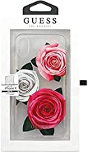 Guess Flower Desire Transparent Hard Case for iPhone X/Xs - Tricolor Roses