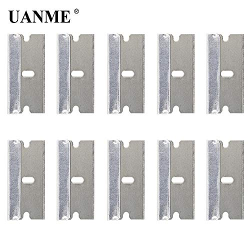 RAQ UANME 10 Stks Meta Blades LCD Lijm Remover Schraper voor Mobiele Telefoon Tablet Scherm Reparatie Gereedschap Reiniger Penseel (Geen Handvat)