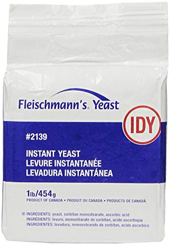 Fleischmann's Instant Dry Yeast 1 LB (16 oz) Bag Vacuum Pack (2 PACK) - Yeast for Baking Bread at Home, Bakeries, Pizzerias, Restaurants, and More