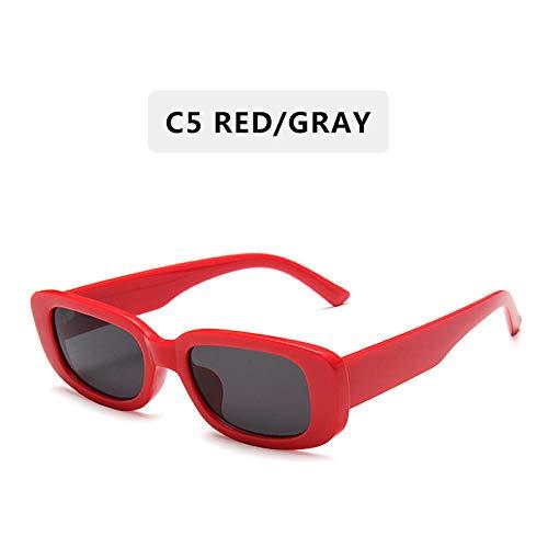 Sonnenbrille Mode Vintage Sonnenbrille Frauen Retro Sonnenbrille Rechteck Sonnenbrille Frau Uv400 Linse Brillen-C5