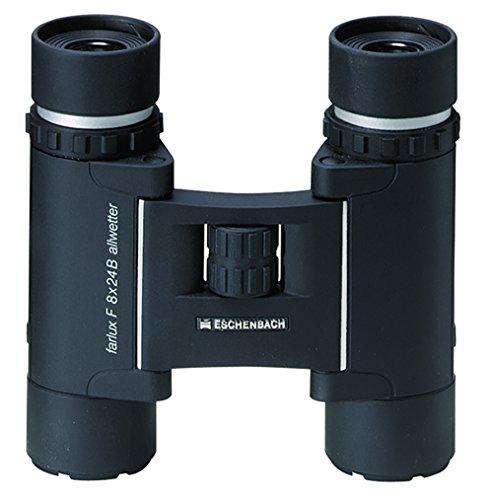 Eschenbach Optik Fernglas farlux F-B silver 8x24, faltbar, kompakt, wasserdicht, schwarz