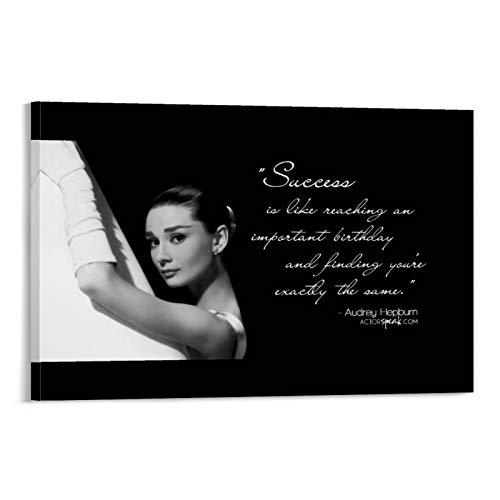 Cuadro de arte con diseño de dragón de Audrey Hepburn y la bailarina para decorar la pared en casa, 60 x 90 cm