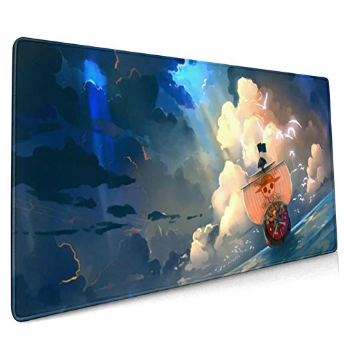One Piece Custom Mouse Pad Anime Mouse Mat Home Office Computer Gaming Mousepad Desk Mat Large 18.11x16.14x0.39inch