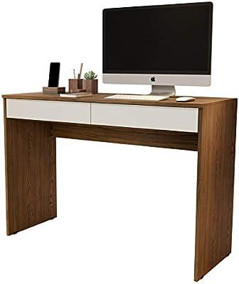 Escrivaninha Home Office - Freijó/Off White - Mania de Móveis