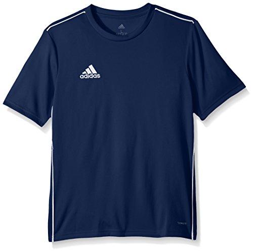 adidas Fußballtrikot Core 18 für Kinder, Unisex, Unisex-Kinder, Jugend Soccer Core18 Trainings-Trikot, Dunkelblau / Weiß, Medium