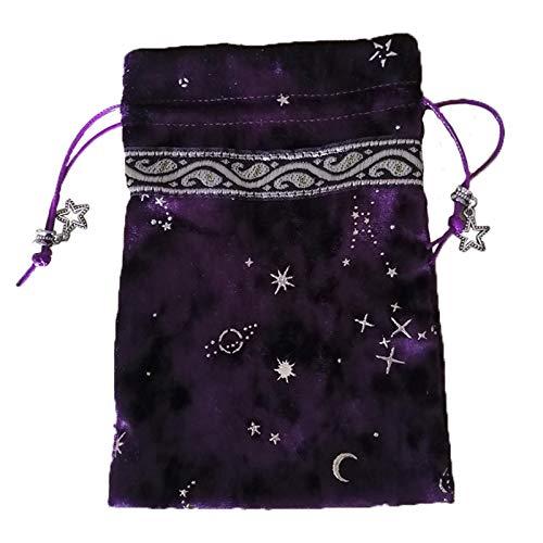 Ljourney Witch Constellation Energy Crystal Aufbewahrungstasche Brettspiel Spielkarten Oracle Card Bag