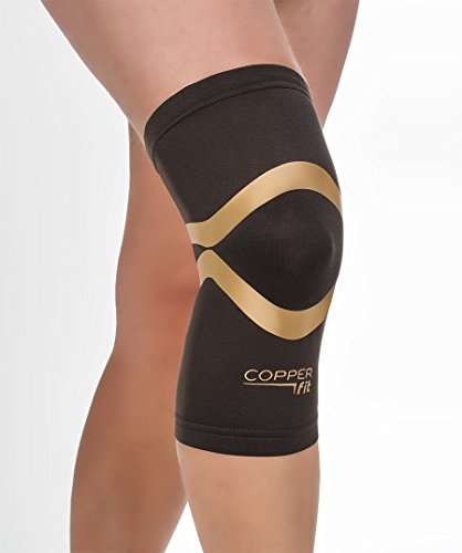 Copper Fit Pro Series Compression Knee Sleeve, Black with Copper Trim, X-Large,Packaging may Vary