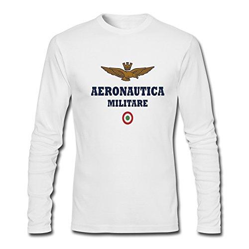 Aeronautica Militare 2016 - Maglietta a maniche lunghe da uomo bianco M