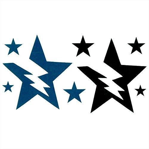 HSP 【 2枚セット 】 タトゥー シール 2枚 セット サンダー ボルト スター 雷 稲妻 イナズマ 星 tatoo