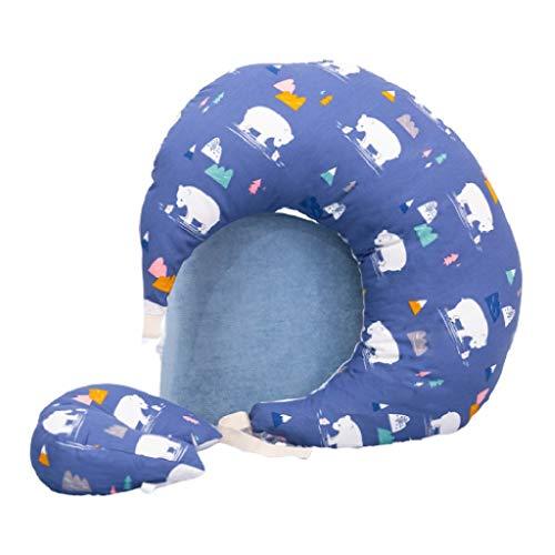Stillkissen-SYY Hochwertige Materialien Und Stoffe Baby Stillkissen Scientific Design Muskelkater Lindern, Blau, Rosa (Color : Blue)