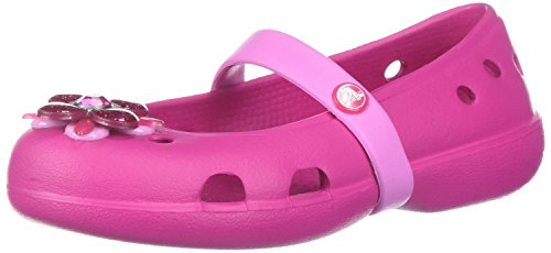 Crocs Girls' Keeley Springtime Flat PS Mary Jane, candy pink, 5 M US Toddler