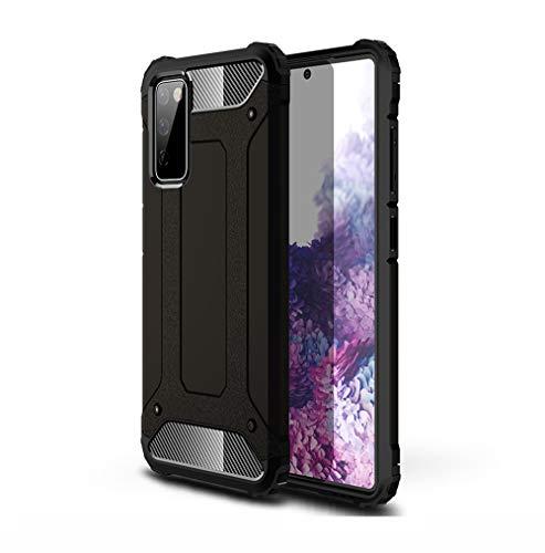 GOGME Funda para Samsung Galaxy S20 FE (Fan Edition) 5G/4G, [Rugged Armour] Antigolpes Estuche Protectora, Silicona Ligera Delgado PC + TPU Bumper Rubber Caso, Negro