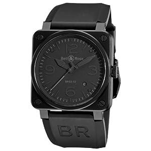 Bell & Ross Men's BR-03-92-PHANTOM Aviation Black Dial Watch Watch image