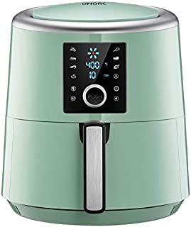 OMORC Air Fryer, 6 Quart, 1800W Fast Large Hot Air Fryers & Oilless Cooker w/Presets, LED Touchscreen(for Wet Finger)/Roast/Bake/Keep Warm, Dishwasher Safe, Nonstick,2-Year Warranty