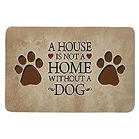 バスルームマットかわいい犬の足家は犬のいない家ではありませんプリント玄関マット寝室のドアのための赤ちゃんの寝室のカーペット装飾的な玄関マットA40Cmx60Cm