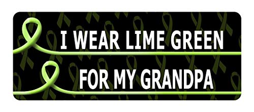Set of 3 - I WEAR Lime Green for My Grandpa Cancer Awareness Sticker Graphic - Decal Sticker