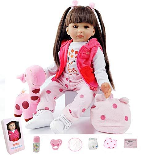 ZIYIUI Reborn Bambino Bambole in Silicone Morbido Bambola Reborn Femmine Cheap Bambola Reborn Reborn Toddler Giocattolo (2)