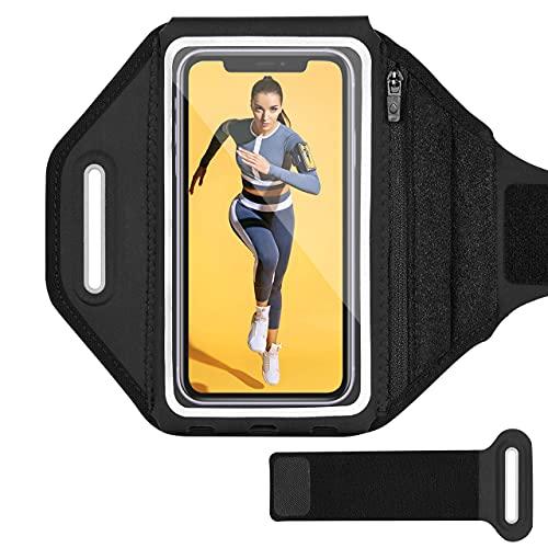 """Fascia da Braccio,【Fino a 6.8""""】Sweatproof Fascia Sportiva da Braccio Riflettente Running Armband per iPhone 11 Pro Max/11 Pro/XR/XS/X/8/7, Galaxy S9/S8/S7- Un Bracciale di Estensione Incluso"""