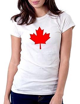 Canada Maple Leaf - Womens Tee T-Shirt Medium White