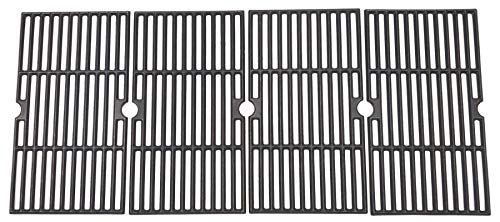 WINTRON BBQ Grill Grate Matte Cast-Iron Cooking Grate for 16-7/8-inch Kenmore Char-Broil 5-Burner 6-Burner Gas Grill Models 463230710, 463234511, 463230512 4-Pack