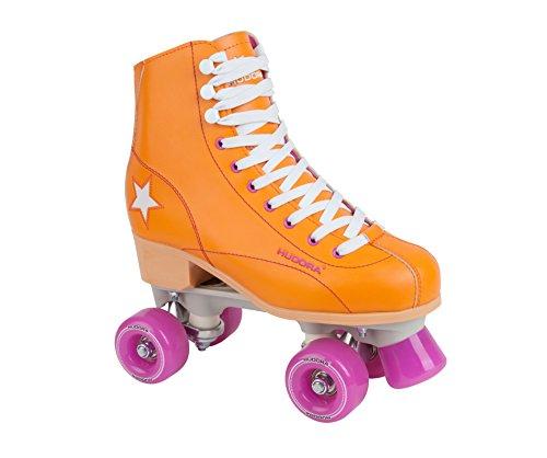 Hudora Disco Rollerskates Unisex Rollschuh, Orange/Lila, 35, 13200