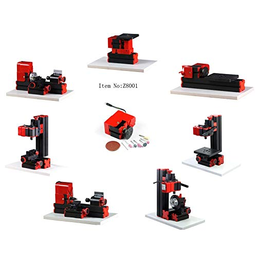 Best Buy! 8 in1 Mini Motorized Lathe Machine 20000 RPM 24W 12V DC 2A Multi-Functional DIY CNC Woodwo...