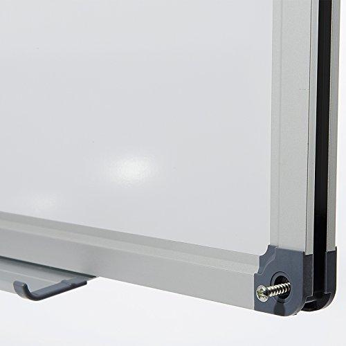 Office Marshal Profi – Whiteboard | Testsieger, Note 1,3 | magnetisch und beschreibbar | Magnettafel mit schutzlackierter Oberfläche | vertikal und horizontal montierbar | 13 Größen | 60x90cm - 6
