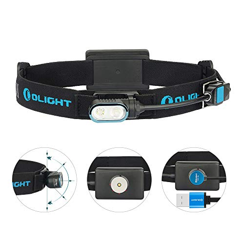 OLIGHT(オーライト) Array ヘッドライト 400ルーメン ランニング 超軽量 コンパクト 2年保証 ロービームとハイビーム2光源 充電式 キャンプ 登山 アウトドア 釣り SOS機能付き