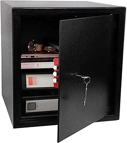 XJYDS Cassaforte per Uso Domestico 37L Cassaforte 40 * 38 * 38 cm, Cabina di Sicurezza Cabinet di Sicurezza ignifuga e Impermeabile con Chiave, per gabinetto di Pistole per Gioielli in Contanti