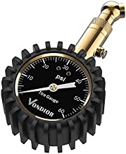 Tire Pressure Gauge - (0-60 PSI) Heavy Duty, Certified ANSI Accurate with Large 2 Inch Easy to Read Glow Dial, Low - High Air Pressure Gauge. Tire Gauge for Car and Trucks Tires by Vondior