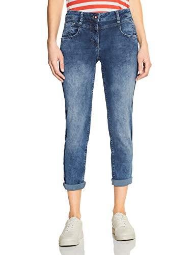 CECIL Damen 372917 Charlize Jeans, Blau(mid blue used wash)W30/L28
