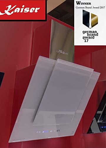 Kaiser ECO Luxus Edelstahl Glas Dunstabzugshaube 60 cm kopffrei/ Kopffreihaube / 910m³/h/ TouchControl/ Esse / Display/ Kaminhaube/ Randabsaugung Timer /Abzugshaube/ Umluftset/Ablufthaube/Umlufthaube