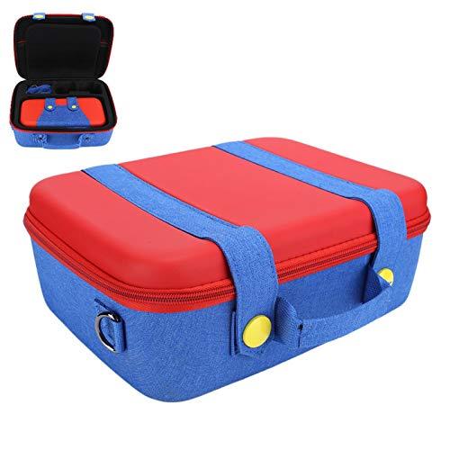Socobeta Bolsa de Almacenamiento de máquina de Juego multifunción Protección de Paquete de EVA Grande/pequeña para Interruptor(Rojo + Azul)