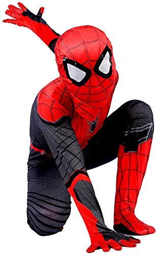 Disfraz Spiderman Niño Homecoming Spiderman Disfraz Niño, Halloween Carnaval Superheroe Disfraz De Niño De Spiderman Cosplay Suit, Spiderman Mascara Niño Disfraz De Spiderman Niño,A-L(132~142)