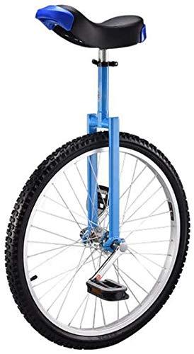 20 pulgadas de la rueda monociclo de alta resistencia acero de manganeso Tenedor asiento ajustable Ruedas de aleación de aluminio de la hebilla antideslizante y antideslizante moldeado de pedales Blue