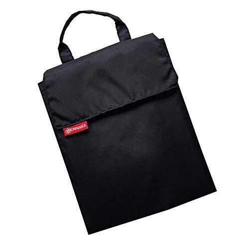 Tragbare Wickelunterlage für unterwegs Wickelquick®/mit einer Hand bedienbar/sicher durch Abrollschutz/4 Seitentaschen/abwaschbar/schwarz
