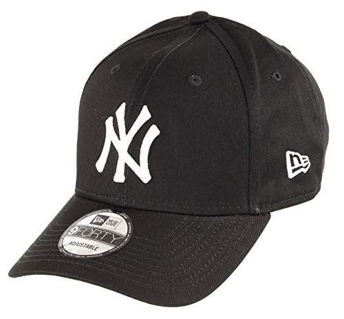New Era New York Yankees 9forty Adjustable Cap MLB Rear Logo Black/White - One-Size