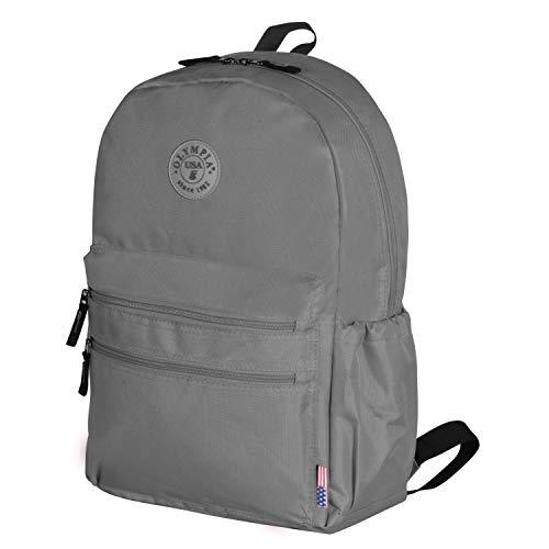 Olympia Unisex-Erwachsene Princeton 18 Inch Backpack Rucksack, grau, Einheitsgröße