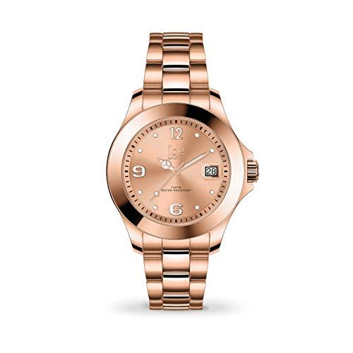 ICE-Watch - Ice Steel Rose-Or - Montre Rose-Or pour Femme avec Bracelet en Metal - 017321 (Small)