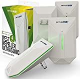 BRISON Ultrasonic Pest Repeller - Easy & Humane Way to Reject Rodents Ants Cockroaches Beds Bugs Mosquitos Fly Spiders Rats 4 Pack