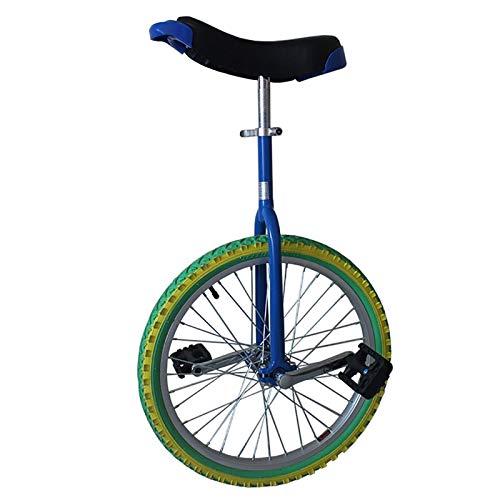 Niños / Hombres Adolescentes / Niños 18 pulgadas de colores Unicycles, Bicicletas de equilibrio de ejercicio al aire libre, con neumáticos y soporte a prueba de deslizamiento, altura 140-165cm, Regalo