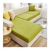 ZIJ Funda de cojín para sofá de esquina de felpa suave y seccional, funda protectora de colchón, funda elástica para chaise longue (color: color16, especificación: tamaño 12)