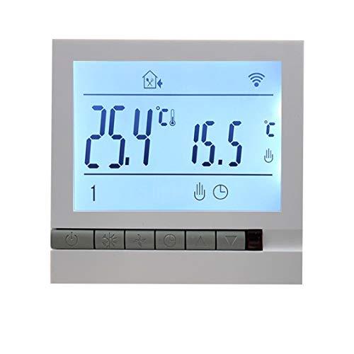 DDyna WiFi Control de termostato Inteligente Control de Voz Termostato de calefacción eléctrica Termostato Digital programable - Blanco